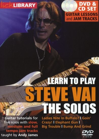 Видеошкола Lick Library - Learn to play Steve Vai - Steve Vai The Solos